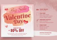 Valentine `s dag verkoop ontwerpconcept