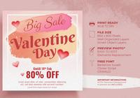 Valentine `s Day Sale Design Concept