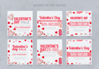 Instagram valentins dagförsäljningsmall