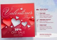 Valentinstag-Verkaufsangebot Instagram Post Templates