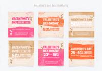 Instagram Valentijnsdag verkoopsjabloon