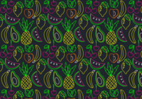 Néon Fruit Seamless Pattern