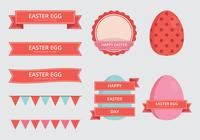 Easter Elements Set. Easter Background. Happy Easter.