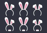 Éléments de Pâques ensemble. Fond de Pâques. Joyeuses Pâques.