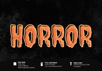 Horror Halloween Belettering Effect
