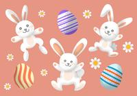 Vintage Easter Character PSD Collection