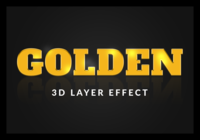 Classic gold style text effect
