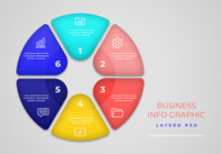 Tidslinje Infographics Workflow Design Mall
