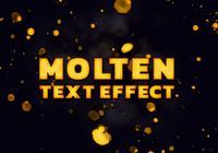 Molten text effect PSD