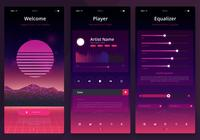 Kit d'interface utilisateur Retrowave. Newwave UI Mobile Kit