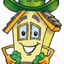 8271-clipart-picture-of-a-house-mascot-cartoon-character-with-a-green-four-leaf-clover-on-st-paddys-or-st-patricks-day
